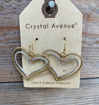 Double Heart Dangle Earring