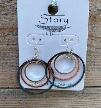 Triple Circle Dangle Earring