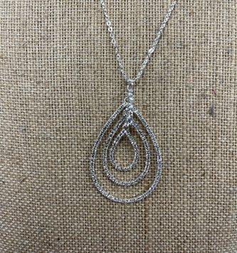 Dainty Triple Teardrop Necklace