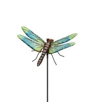 "36"" Metal Dragonfly Stake"