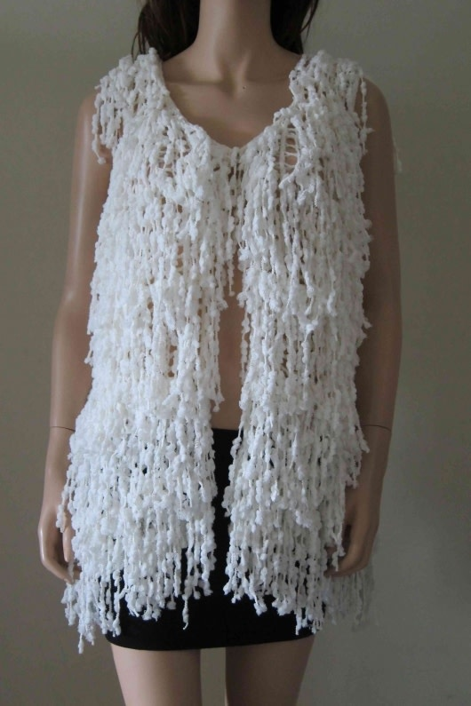 Radzoli Layered Fringe Vest (2-Colors)