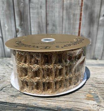 Open Weave Mesh Gold Ribbon 10 Yds