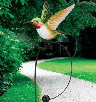 Ruby Throated Hummingbird Rocker Stake