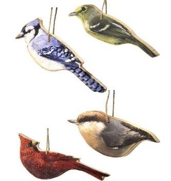 Set of 4 Song Bird Ornament