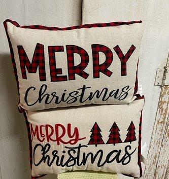 Buffalo Plaid Merry Christmas Pillow (2-Styles)