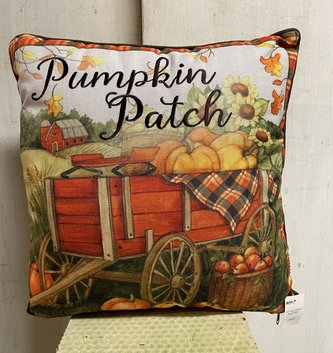 Embroidered Plaid Fall Pillow (4-Styles)