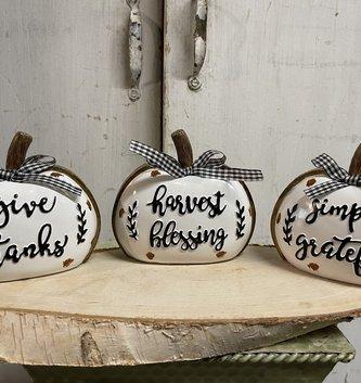 Harvest Gingham Pumpkin (3-Styles)