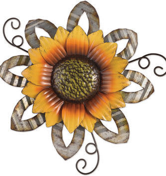 Cut-Out Hanging Metal Sunflower