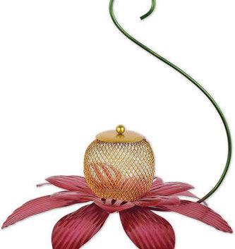 Hanging Metal Flower Birdfeeder (2-Colors)