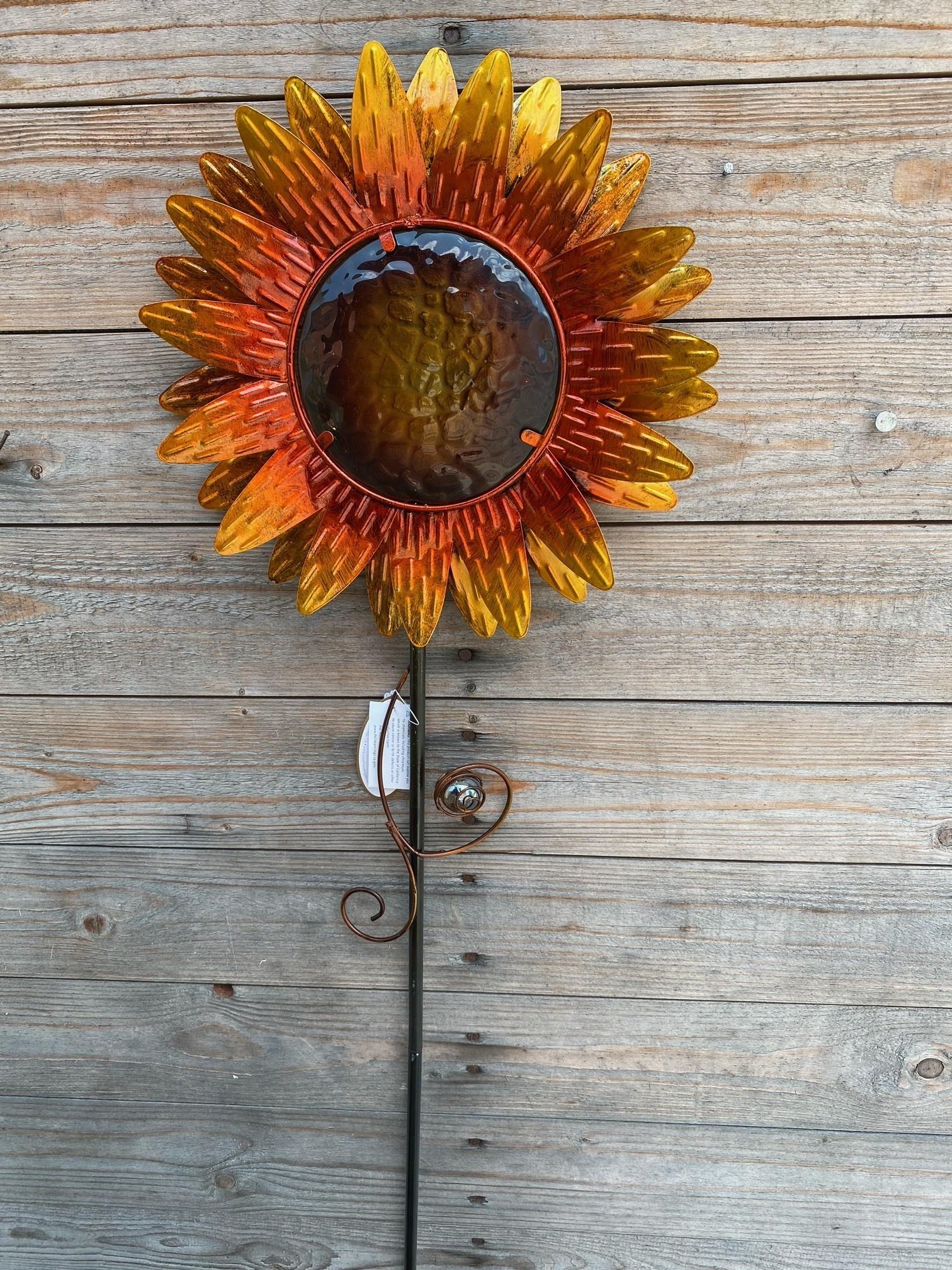Harvest Sunflower Garden Stake