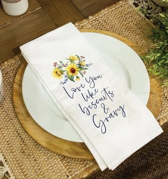 Love You Like Biscuits & Gravy Towel