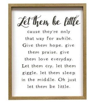 Let Them be Little Framed Print