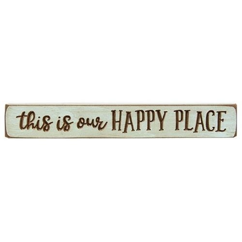 This is Our Happy Place Engraved Sign