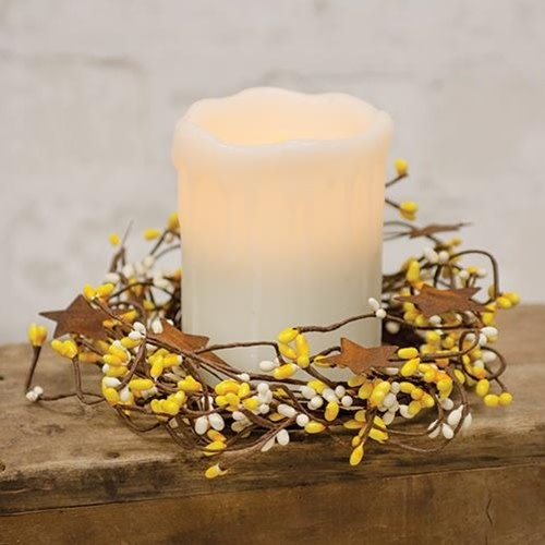 Mini Berry Twig Candle Ring