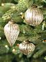 Mini Golden Mercury Glass Ornament (3-Styles)