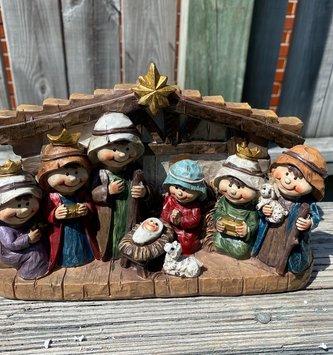 One Piece Carved Children's Nativity