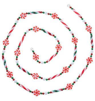 6-Ft Peppermint Candy Garland