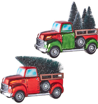 Vintage Truck With Christmas Tree (2-Colors)