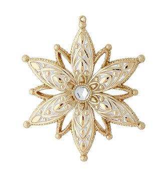 Prism Golden Snowflake Ornament
