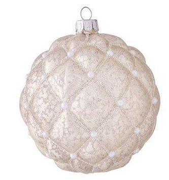 Mercury Glass Ornament w/ Pearls