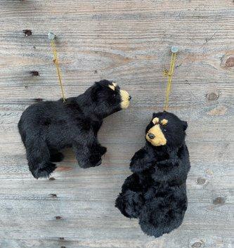 Plush Black Bear Ornament (2-Styles)