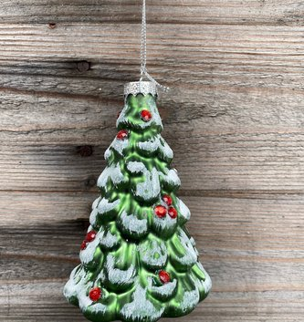 Glass Sparkle Christmas Tree Ornament