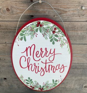 American Holiday Merry Christmas Sign