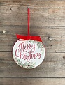 American Holiday Merry Christmas Ornament