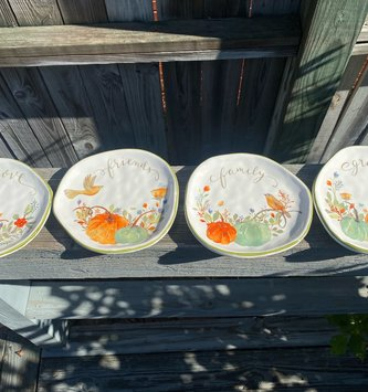 Colorful Harvest Bird Plate (4-Styles)