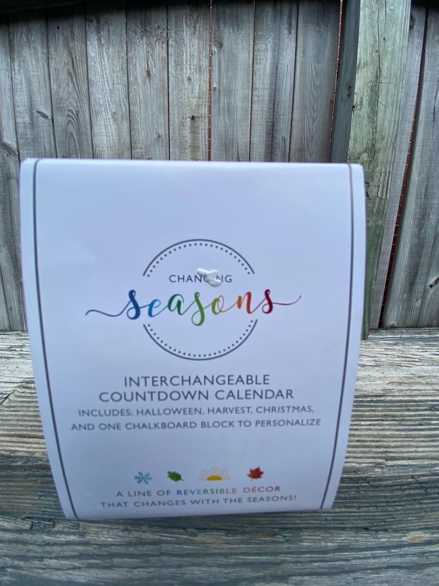 Changing Seasons Countdown Calendar