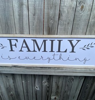 Family is Everything Framed Sign