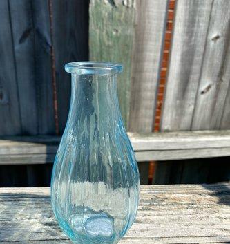 Blue Glass Stripe Vase