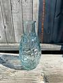 Blue Glass Textured Vase