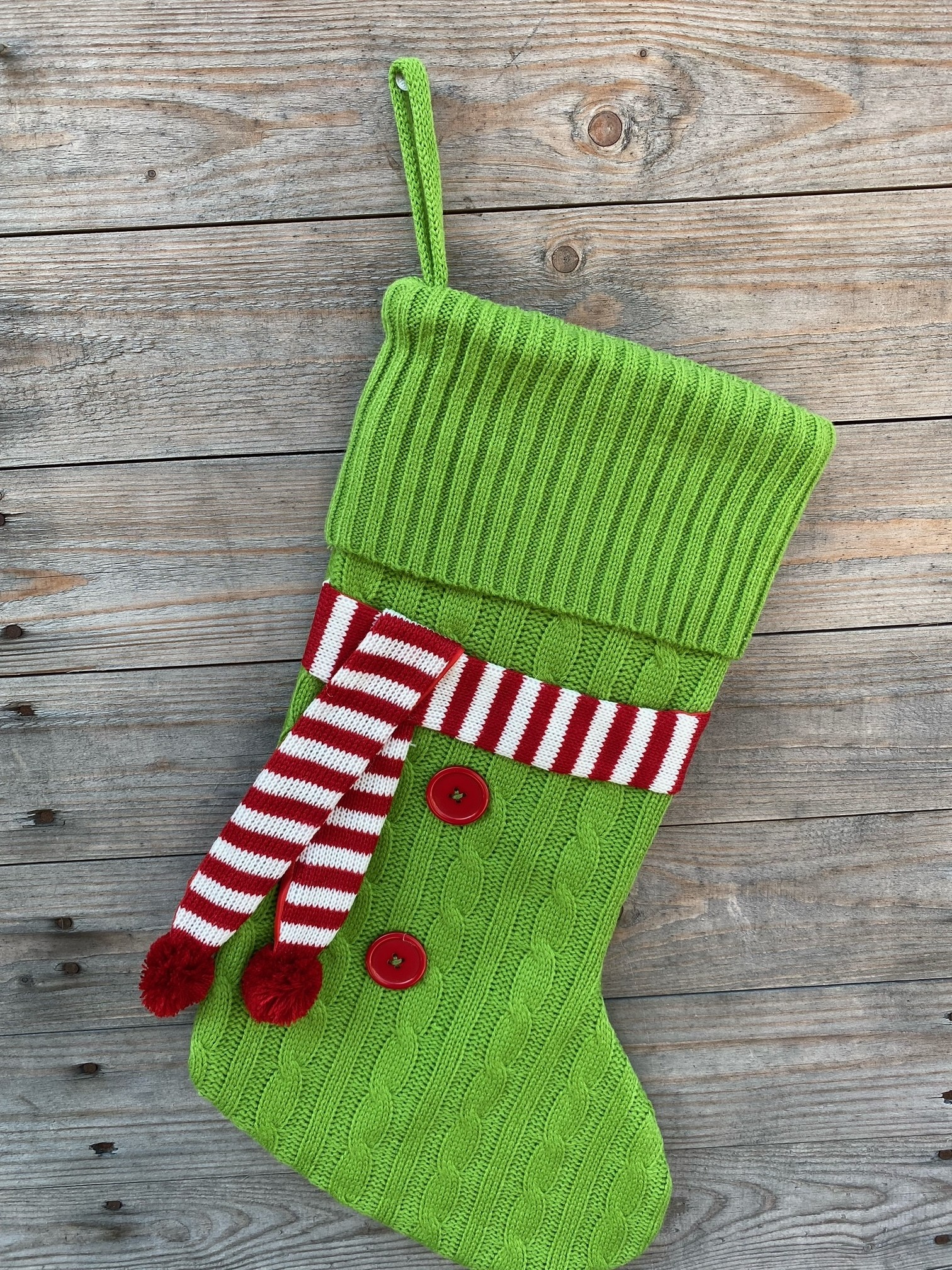 Cable Knit Scarf Stocking (3-Colors)