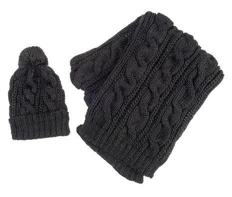 Cable Knit Scarf & Hat Set (4-Colors)
