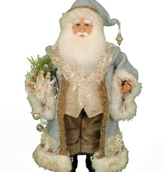 Karen Didion Tiffany Blue Santa