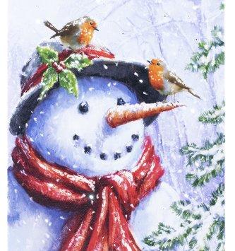 LED Tabletop Snowman & Friends Canvas