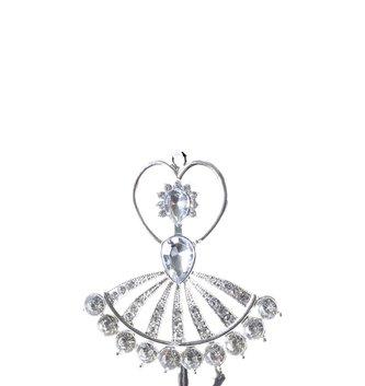 Silver Crystal Ballerina Ornament (2-Styles)