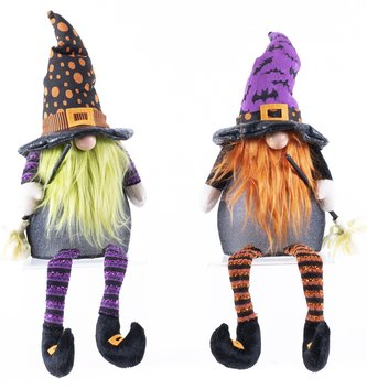 Sitting Light Up Witch Gnome (2-Colors)