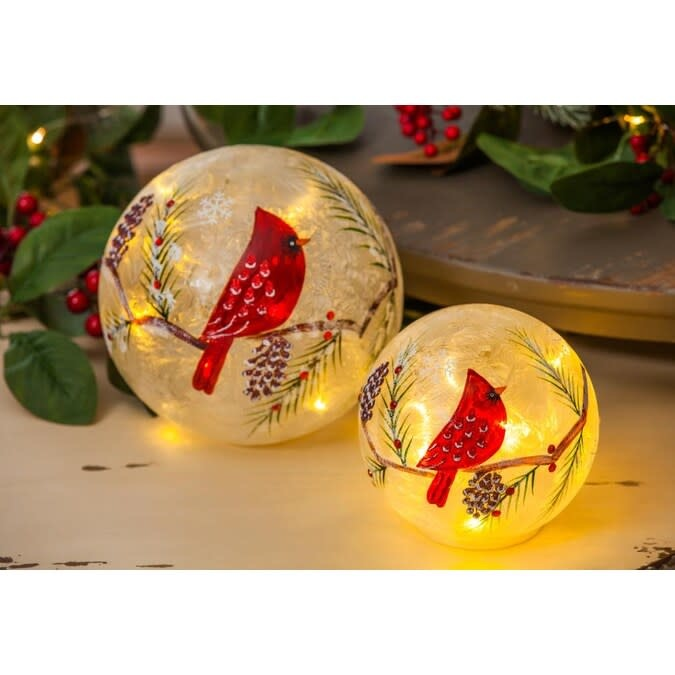 LED Frosted Cardinal Sphere (2-Sizes)