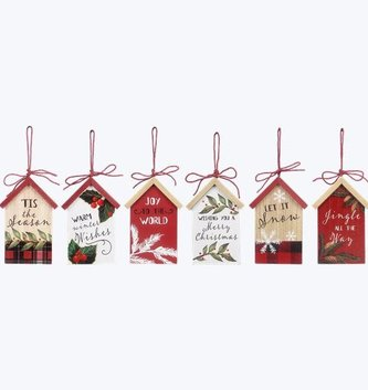 Wooden Christmas Message Ornament (6-Styles)