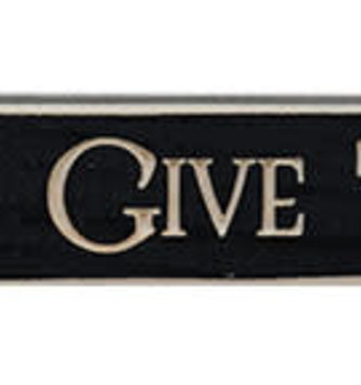 Let Us Give Thanks Engraved Block Sign