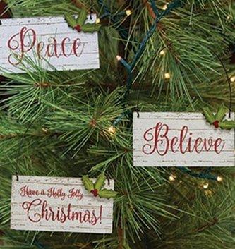 Holly Jolly Christmas Ornament (3-Styles)