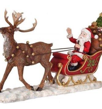 Santa in Sleigh w/ Reindeer