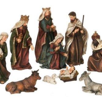10 Piece Linen Nativity