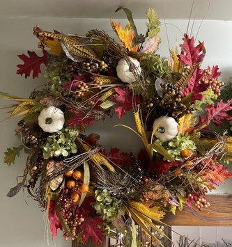 vine nest fall wreath