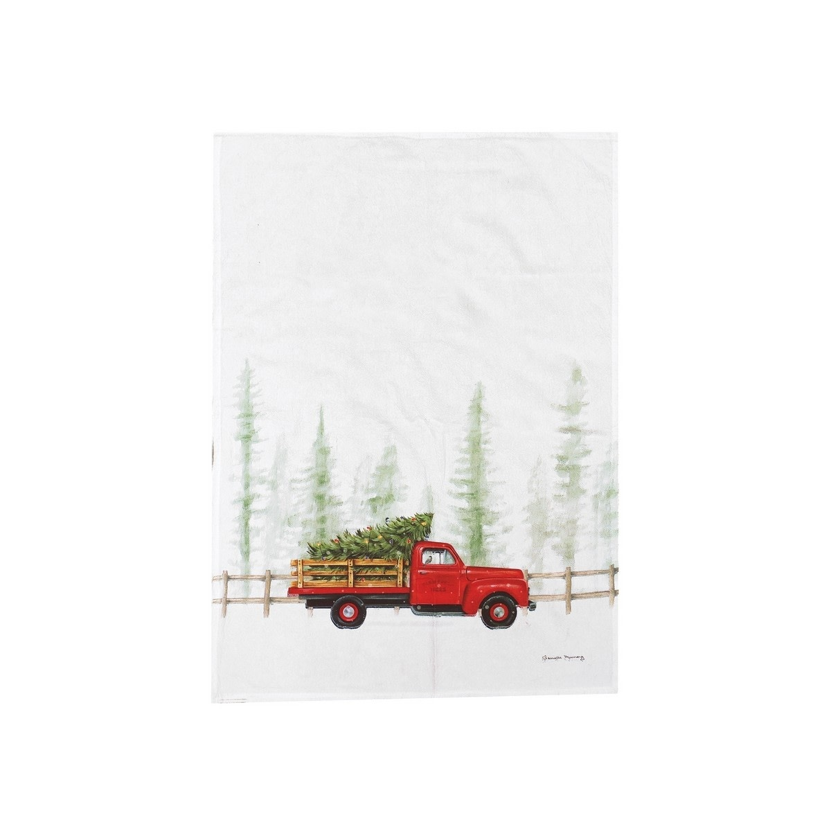 Holiday Truck Kitchen Towel