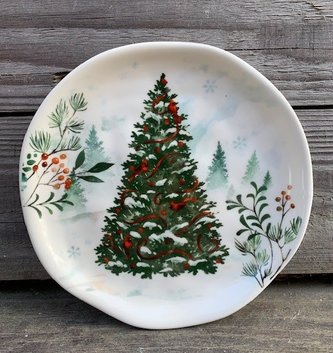 Woodland Ceramic Candle Saucer (4-styles)