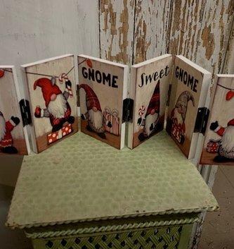 Gnome Sweet Gnome Folding Sign