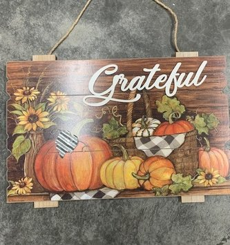 Hanging Wooden Harvest Sign (2-styles)